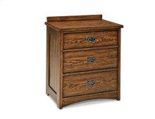 Oak Park Three Drawer Nightstand
