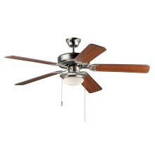 "Basic-Max 52"" Ceiling Fan w 2-Lt LED Fan Kit wBulb"