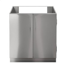 "OUTDOOR KITCHEN CABINETS IN STAINLESS STEEL  PURE 30"" Sink Base Cabinet 2 Doors"