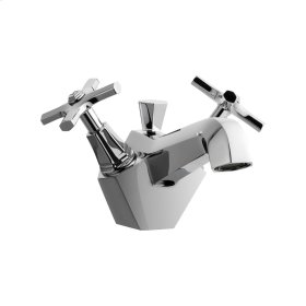 Waldorf Crosshead Single-Hole Lavatory Faucet - Polished Nickel
