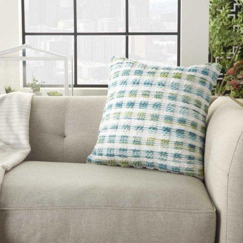 "Outdoor Pillows Sh409 Turquoise Green 18"" X 18"" Throw Pillow"