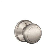 Andover Knob Non-turning Lock - Satin Nickel