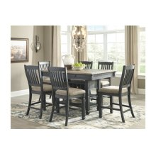 Tyler Creek Rectangular Counter Height Dining Room Set: Table & 6 Chairs
