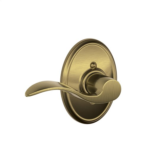 Accent Lever with Wakefield trim Non-turning Lock - Antique Brass