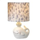Whale Accent Lamp with Raindrop Shade. 40W Max. Product Image