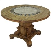 """48"""" Round Ped Table W/Stone Product Image"""