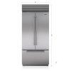 "Subzero 36"" Classic French Door Refrigerator/freezer With Internal Dispenser"