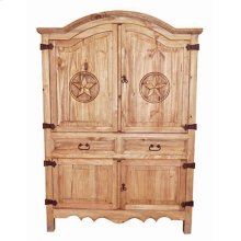 "55"" Wide Sierra Armoire W/star"