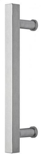 Modern Door Pull - Solid Stainless Steel in US32D (Satin Stainless Steel) Product Image