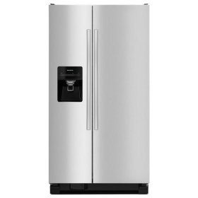 Amana® Side-by-Side Refrigerator with Dairy Center - Black-on-Stainless