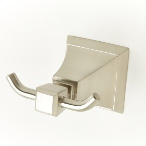 Double Robe Hook Hudson (series 14) Satin Nickel