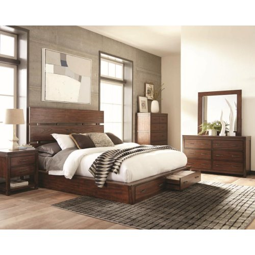 Artesia Industrial Dark Cocoa Queen Four-piece Set