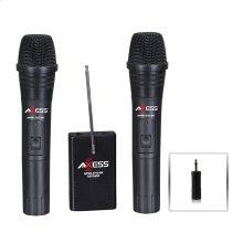 MPWL1513-BK Wireless Dual Microphone VHF Frequency