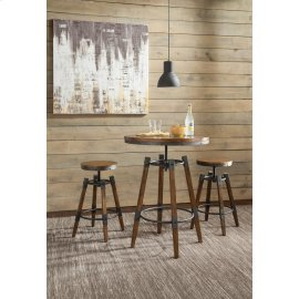 Hornell Rustic Adjustable Bar Table