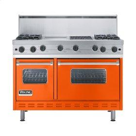 """Pumpkin 48"""" Open Burner Commercial Depth Range - VGRC (48"""" wide, four burners 12"""" wide griddle/simmer plate 12"""" wide char-grill)"""