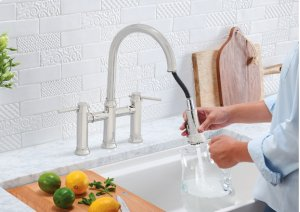 Blanco Empressa Bridge Faucet - Polished Chrome