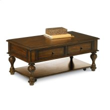 Erin Rectangular Coffee Table With Casters