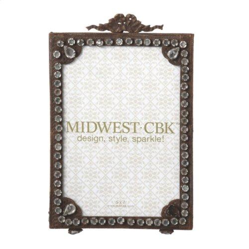 Antiqued Rusted Gem 5x7 Photo Frame