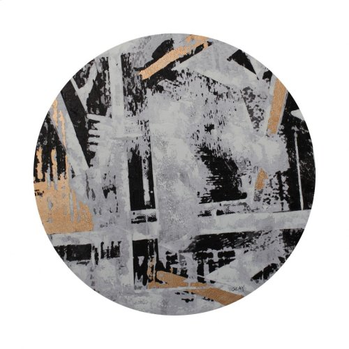 Abstract City Round Wall Décor