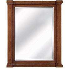 32 in. W Brown Vanity Mirror