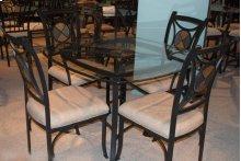Black / Glass / Stone Dinette Table