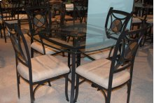 Black / Glass / Stone Dinette Table