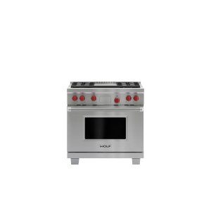 """WOLF36"""" Dual Fuel Range - 4 Burners and Infrared Griddle"""
