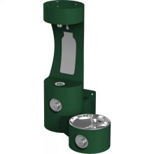 Elkay Outdoor EZH2O Bottle Filling Station Wall Mount, Non-Filtered Non-Refrigerated, Evergreen
