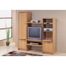 TV STAND - MAPLE ENTERTAINMENT CENTER