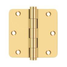 "3 1/2""x 3 1/2"" x 1/4"" Radius Hinge, Residential - PVD Polished Brass"