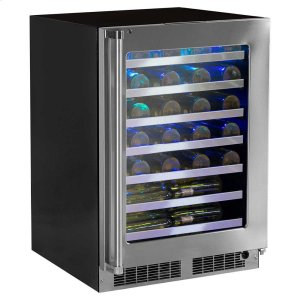 Marvel24-In Professional Built-In High Efficiency Single Zone Wine Refrigerator With Classic Hinge with Door Swing - Right