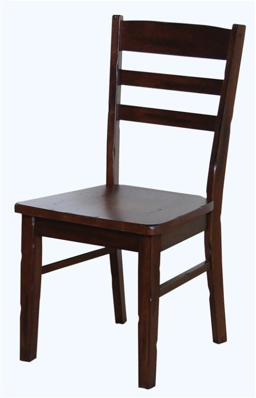 Santa Fe Ladder Back Chair W/wooden Seat
