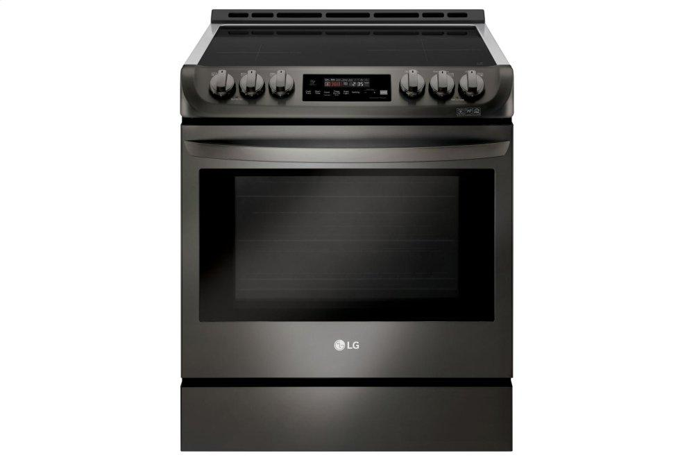 6.3 cu. ft. Smart wi-fi Enabled Induction Slide-in Range with ProBake Convection(R) and EasyClean(R)  BLACK STAINLESS STEEL