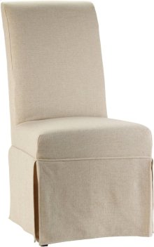 Clarice Skirted Chair Jade White