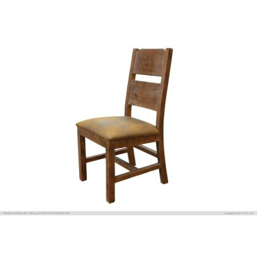 Solid Wood Chair w/fabric seat
