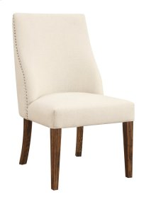 Emerald Home Chambers Bay Side Chair Upholstered Seat & Back-setup Pine-hand Scraped Antique D312-20