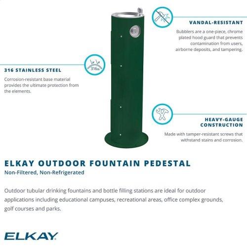 Elkay Outdoor Fountain Pedestal Non-Filtered, Non-Refrigerated Gray
