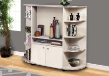 BOOKCASE - BEIGE / GOLD / STORAGE UNIT