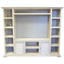 White Wash Entertainment Center