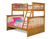 Columbia Bunk Bed Twin over Full in Caramel Latte
