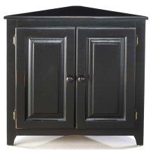 Pine Corner Cabinet With Doors