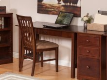 Mission Desk with Drawer in Walnut