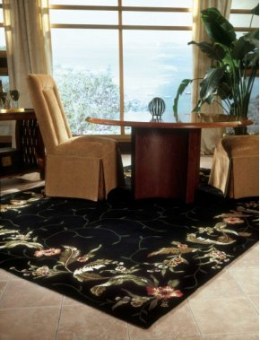 Julian Jl46 Blk Rectangle Rug 27'' X 18''