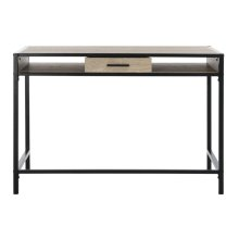 Alan 1 Shelf Desk With Drawer - Oak / Black