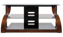 Vibrant Espresso Finish Curved Wood Audio/Video Furniture