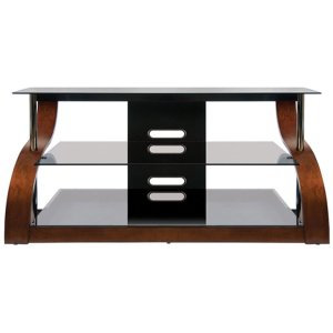 Bell'oVibrant Espresso Finish Curved Wood Audio/Video Furniture