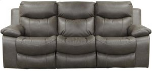 Power Headrest Lay Flat Reclining Sofa w/Drop Down Table