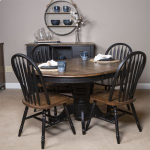 Liberty Furniture Industries7 Piece Pedestal Table Set- Black