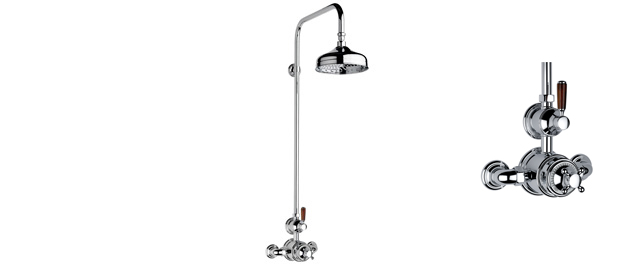 "City Bronze Fairfield Exposed 3/4"" Thermostatic Shower Set"