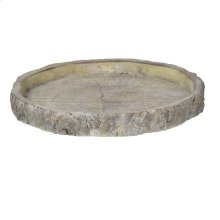 Faux Wood Round Plate